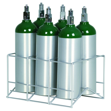 6 Cylinder Oxygen Storage Rack for D E and M9 Tanks 150-0261