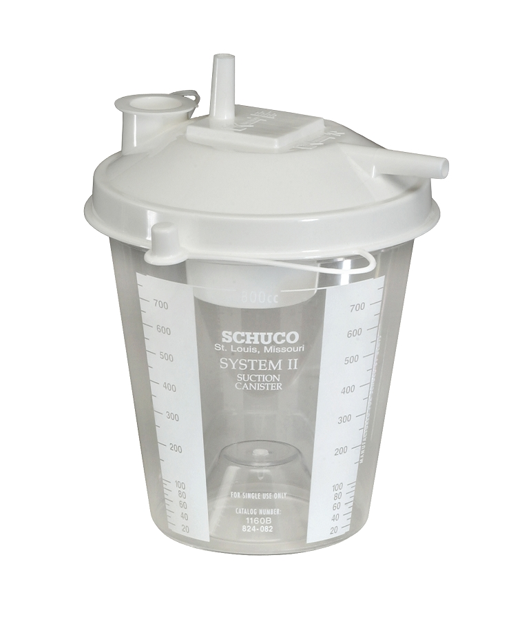 Allied Healthcare 800cc Disposable Suction Canister-S1160BA-RPL-Case