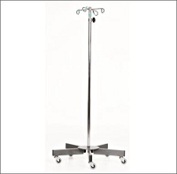 MCM 238 6-Leg SS Infusion Pump Stand 4 Inch Hook 52 - 94 Inches