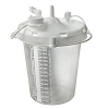 Allied Healthcare Suction Bottle - 1500ml - Stem Inlet Disposable Canisters - Case of 16