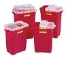 BD Sharps Collector 9 Gallon Hinged Top Red 305601