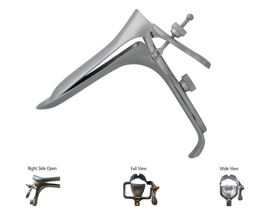 BR Surgical BR70-10026 Graves Vaginal Speculum Medium 45 Degree Angle