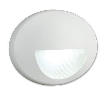 Nightguide Decorative Nightlight Oval Horizontal with White LEDs