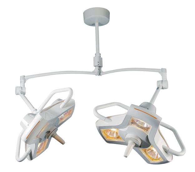 Double Ceiling Mount Surgical-OR Lights Philips Burton AIM-100 A100DC