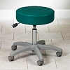 Adjustable 5-Leg Pneumatic Stool with Backrest with Putty Base