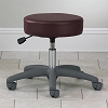 Adjustable 5-Leg Pnuematic Stool with Backrest with Slate Grey Base