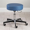 Clinton Adjustable 5-Leg Pneumatic Stool with Aluminum Base with Black Accents
