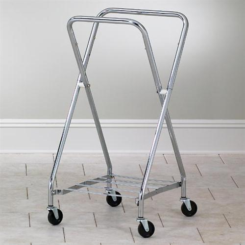 Clinton Industries SS Adjustable Folding Hamper H-42 with Wheels