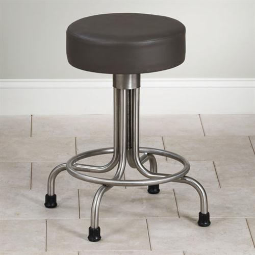 Clinton Adjustable Stainless Steel Stool With Rubber Feet