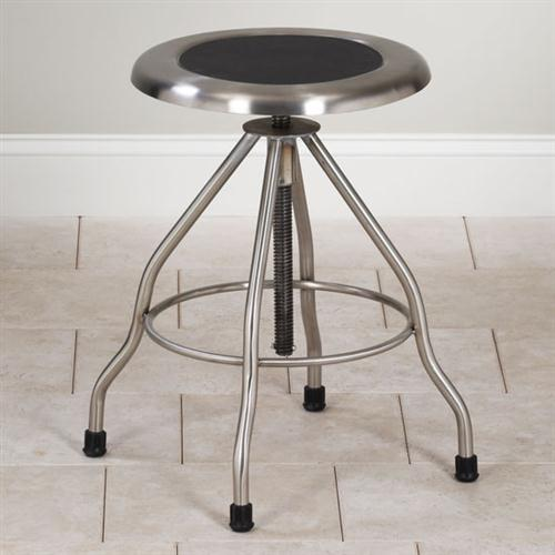 Clinton Adjustable Stainless Steel Stool with Rubber Feet  : SS 2169 from www.global-medical-solutions.com size 500 x 500 jpeg 26kB