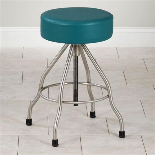 Clinton Adjustable Stainless Steel Stool with Rubber Feet  : SS 2179 from www.global-medical-solutions.com size 500 x 500 jpeg 25kB