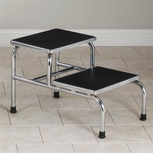 Clinton Chrome Two-Step Bariatric Step Stool