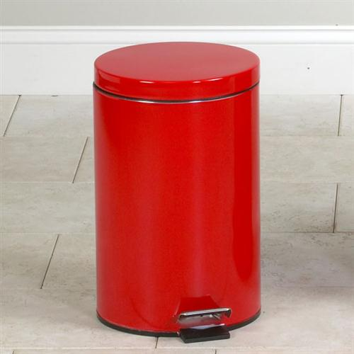 Small Round Red Waste Receptacle