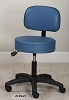 Clinton Adjustable 5-Leg Pneumatic Stool with Backrest with Black Base