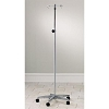 Adjustable Five-Leg, 2-Hook IV Pole with Knob-Lock Adjustment with Case Aluminum Base