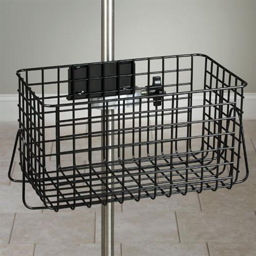 Heavy Duty Stainless Steel Wire Basket for IV Pole  (Requires universal clamp sold separately)