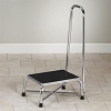 Clinton Industries Large Top Bariatric Step Stool with Handrail T-6250