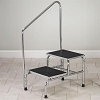 Chrome Two-Step Step Stool with Handrail Clinton T-6850