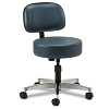 Clinton Adjustable 5-Leg Spin-Lift Stool with Aluminum Base with Backrest