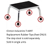 Clinton Industries T-40 Replacement Rubber Tips/Feet T-40RT