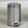 Clinton Small Round Stainless Steel Waste Receptacle TR-13S 13 Quart