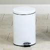 Small Round White Waste Receptacle