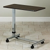 Clinton Industries H-Base Over-Bed Table with Walnut Laminate Top TS-170