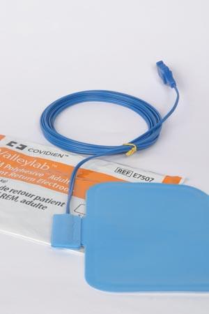 Covidien Patient Return Electrode with 9 Ft Cord E7507 Case
