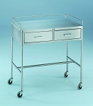 David Scott Crescent Model 7856SS Anesthesia Utility Table Stainless Steel 36x20x34