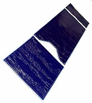 Three Piece Blue Diamond Gel OR Table Pad One GU Cutout