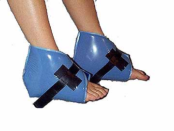David Scott Blue Diamond Clamshell Heel Pad with Velcro