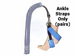 David Scott Blue Diamond Ankle Stirrup Straps for Candy Canes Pair