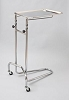 Dukal Tech-Med California Base Double Post Large 16 X 21 Inch Tray Mayo Instrument Stand 4366