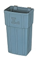 Lakeside Single Regular Gray Polyethylene Waste Box 202 Ergo-One