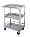 Lakeside 316 Guard Rail 300 Pound Capacity Utility Cart Stainless Steel