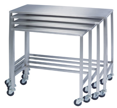 Lakeside 8381 16x32x34 Medium Single Nesting Table Stainless Steel