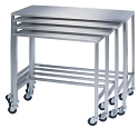 Lakeside 8380 14x28x32 Small Single Nesting Table Stainless Steel