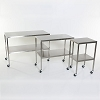 Stainless Steel Instrument Back Table with Shelf 16X20X34 MCM 501