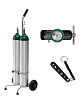 15 LPM Dual E Cylinder Oxygen Therapy Cart Complete 140-0120