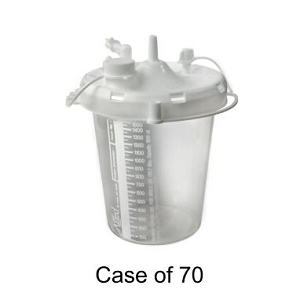 Allied Healthcare Schuco-Aspirator-Suction Pump Disposable Canister 800cc Case of 70