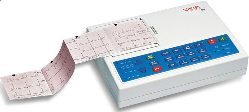 Schiller Cardiovit AT-1 Resting ECG Monitor with Accessory Kit and Interpretive Software