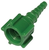 Oxygen Connector, Green with Swivel, 10 pack