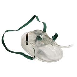 Adult Oxygen Medium Concentration Mask with 7 foot Safety Tubing, case of 50