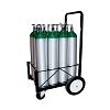 12 Cylinder Medical Oxygen Cylinder Extreme Duty Cart for Size D E and M9 Tanks 150-0175