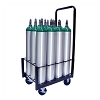 12 Cylinder Medical Oxygen Cylinder Cart for Size D E and M9 Tanks 150-0170