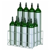 12 Cylinder Oxygen Safe Storage Rack for D E M9 Tanks 150-0271