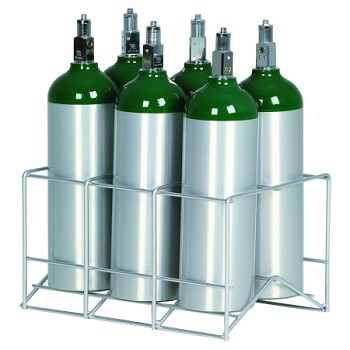 6 Cylinder Oxygen Storage Rack for D E and M9 Tanks