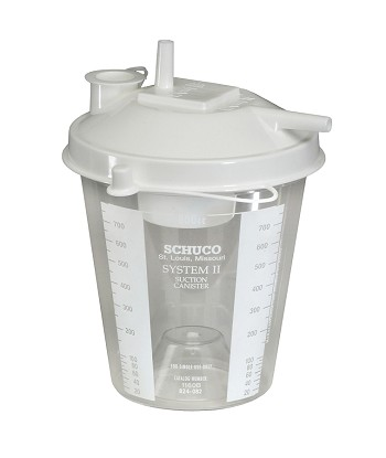 Allied Healthcare 800cc Disposable Suction Canister-S1160BA-RPL
