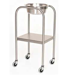 MCM 1001 Solution Stand with Shelf Stainless Steel Single Bowl