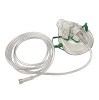 Pediatric Oxygen Masks 7-Foot Oxygen Supply Tubing 50 per Case